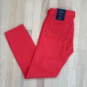 Gap skinny ankle stretch pants Coral